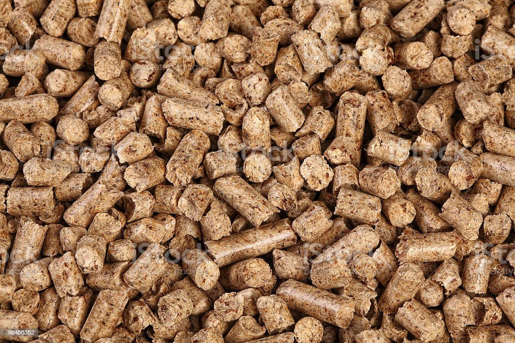 wood pellet royalty-free stock photo