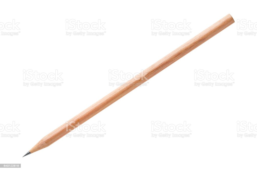 Wood pencil isolated on white stock photo