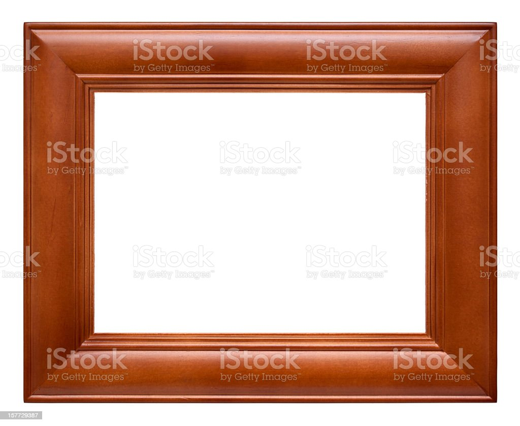 Wood Picture Frame (Clipping path!) isolated on white background royalty-free stock photo