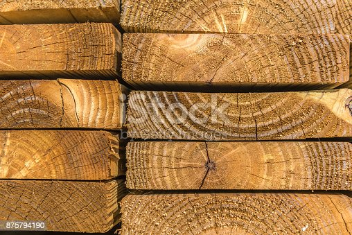 Wooden plank stack background.