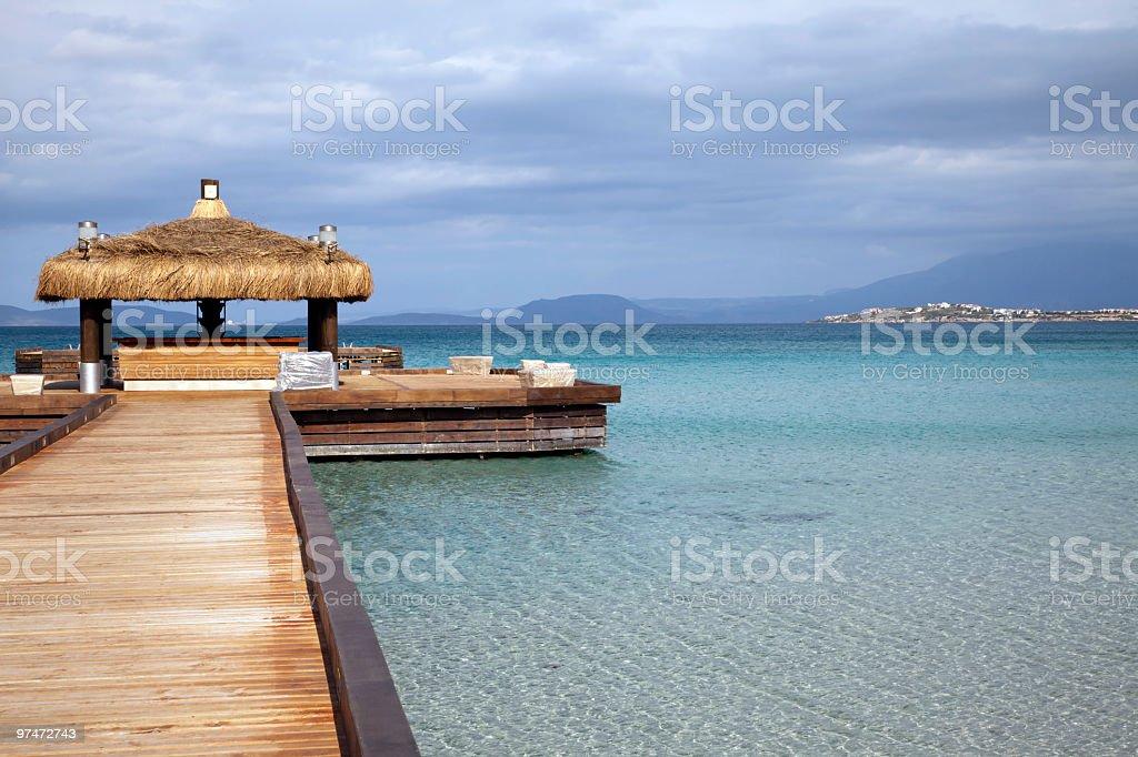 Wood Pier royalty-free stock photo