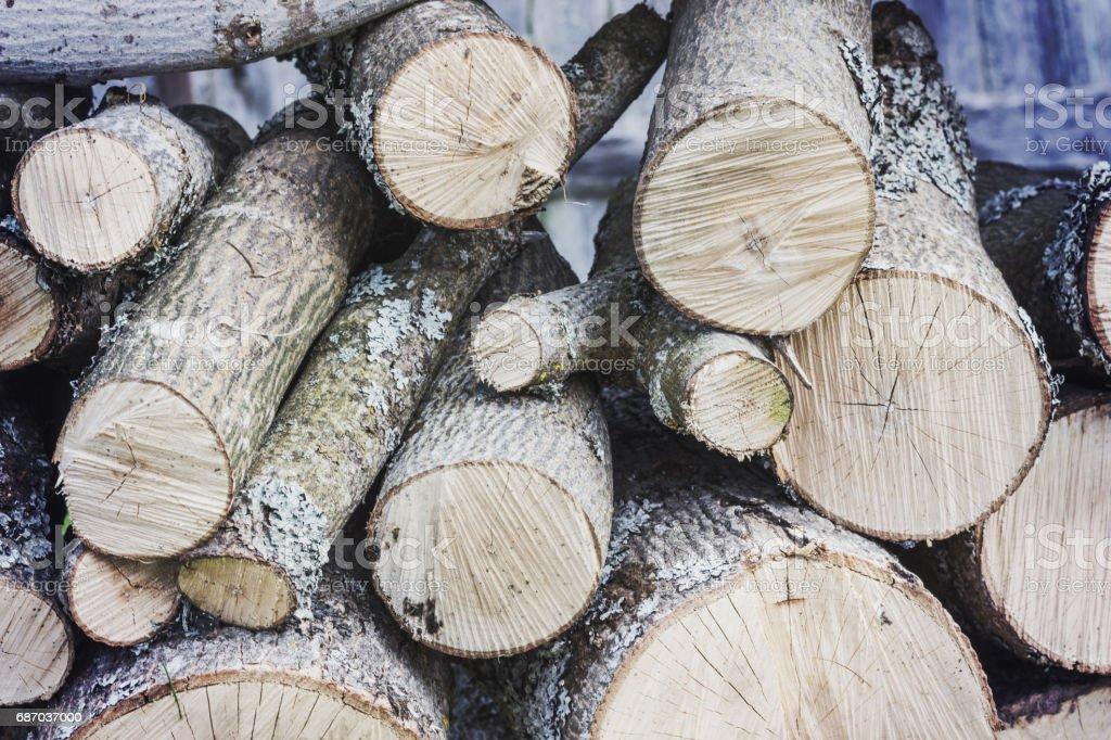 Holz-Haufen in der Hütte Lizenzfreies stock-foto