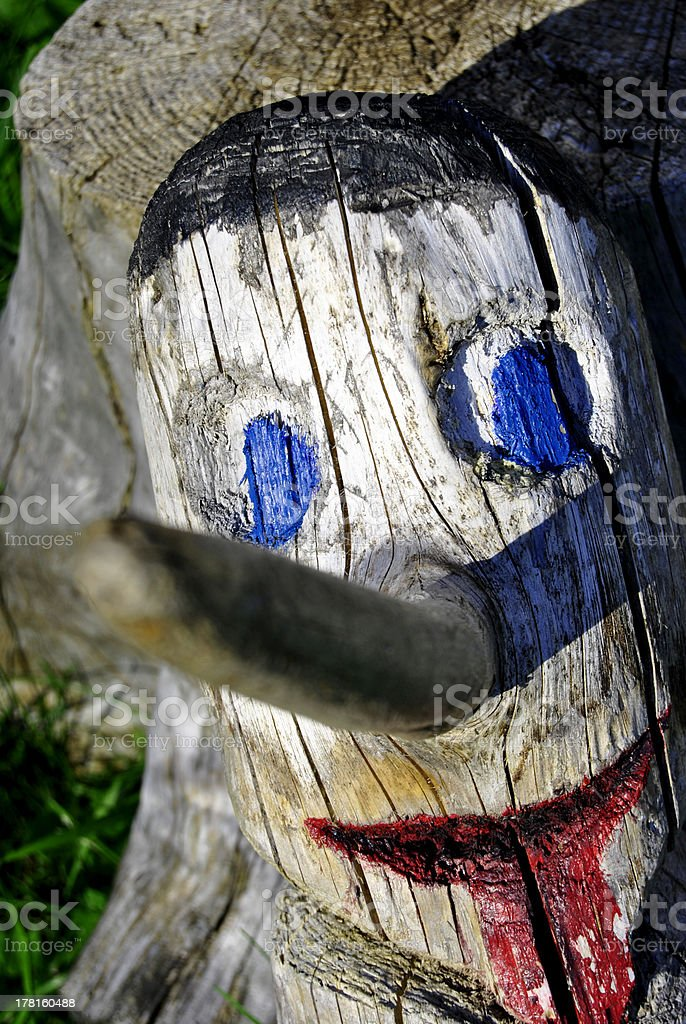 wood pinocchio royalty-free stock photo