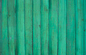 istock Wood planks, green texture, wooden background, fence 628318102