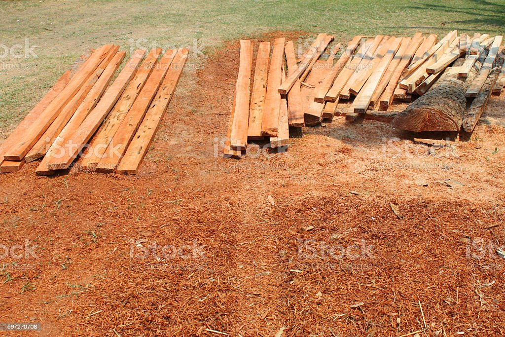 wood planks on the ground royalty-free stock photo