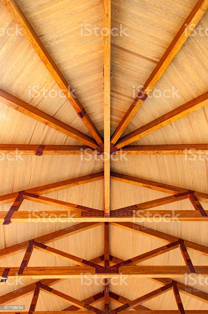 Wood Rafters stock photo