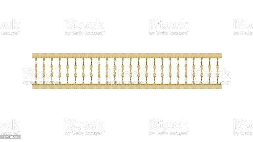 Wood Railing Front View Isolated stock photo