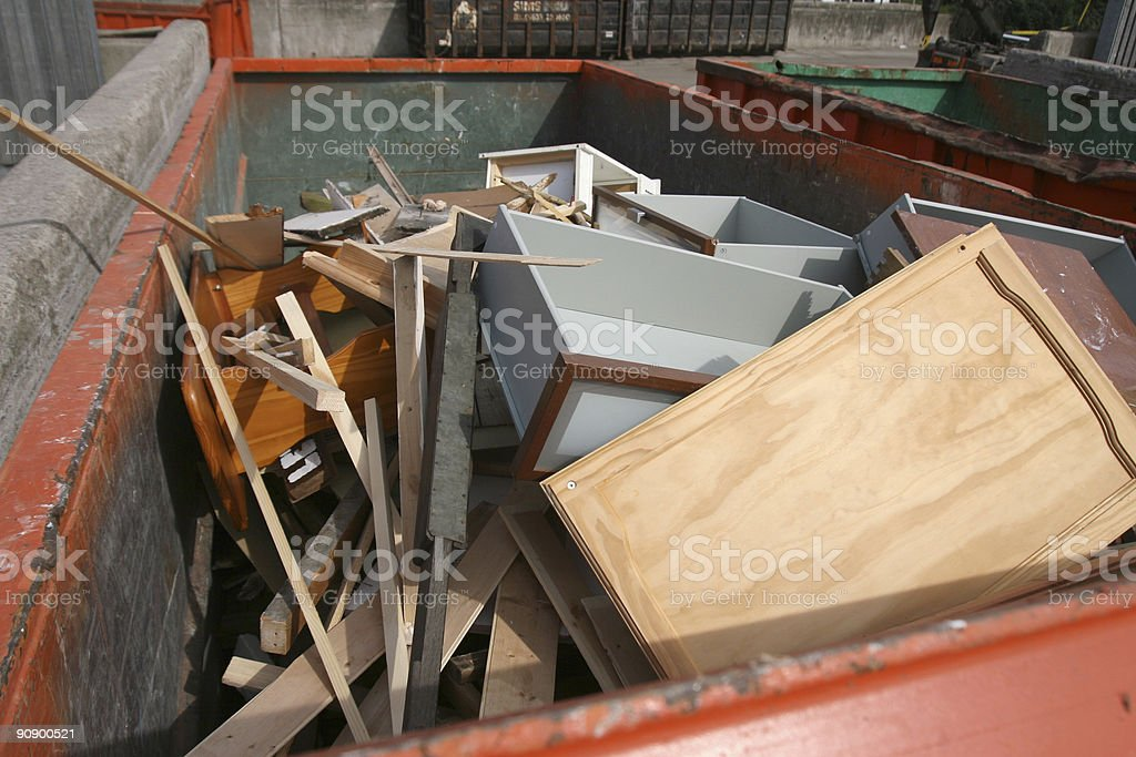 Wood recycling centre stock photo