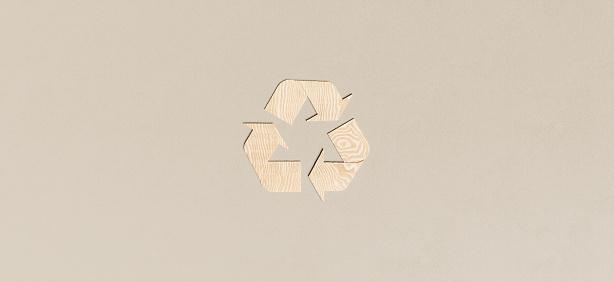 wood recycling symbol