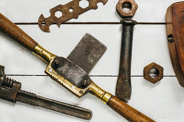 Wood repair tools stock photo