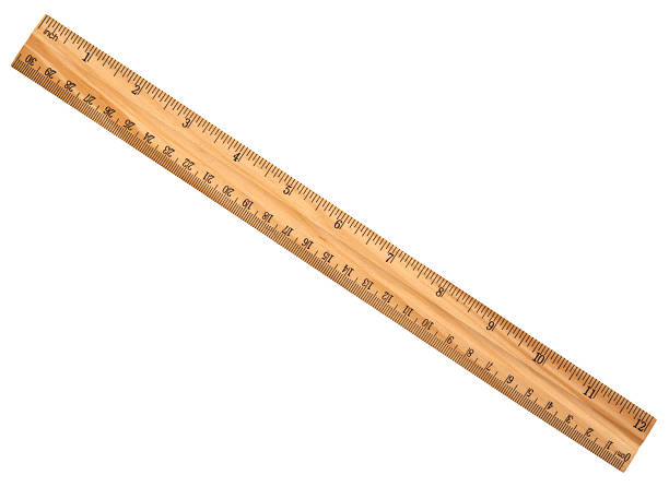 wood ruler isolated over a white background - ruler stock photos and pictures