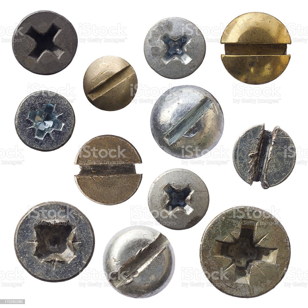 Wood Screws royalty-free stock photo