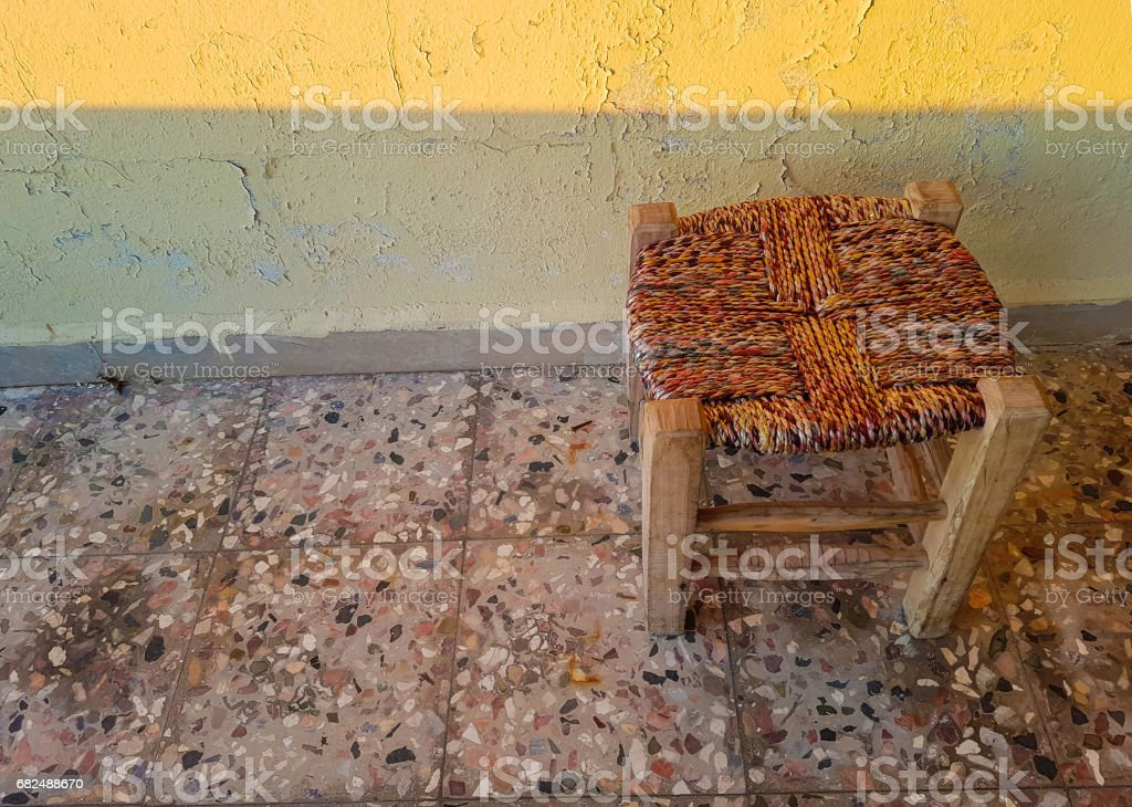 wood seat royalty-free stock photo