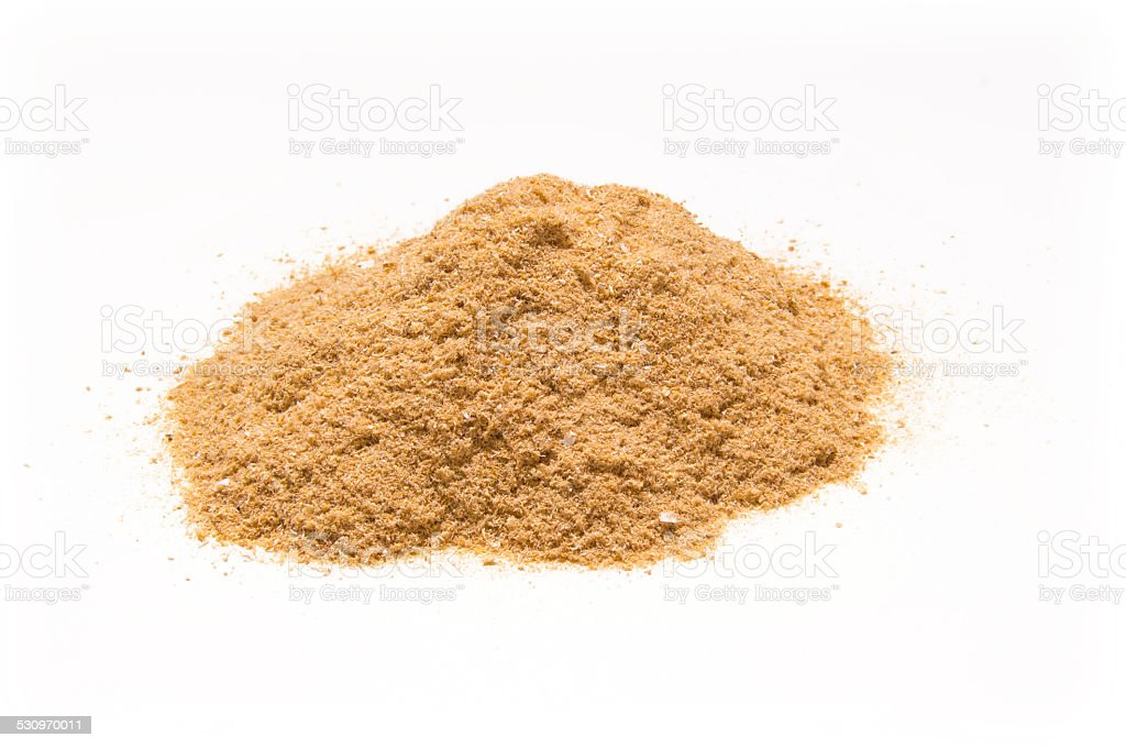 Wood shavings from stick-saw stock photo
