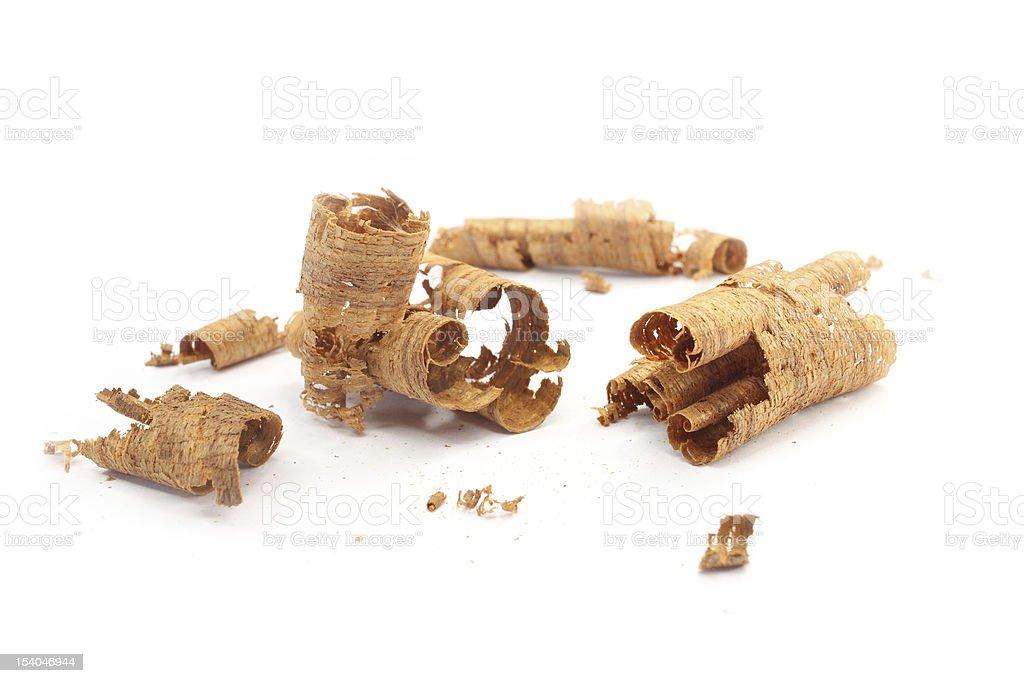 Wood shavings stock photo
