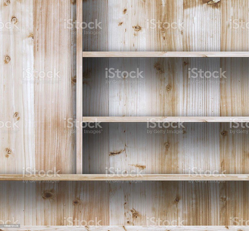 Wood shelf royalty-free stock photo