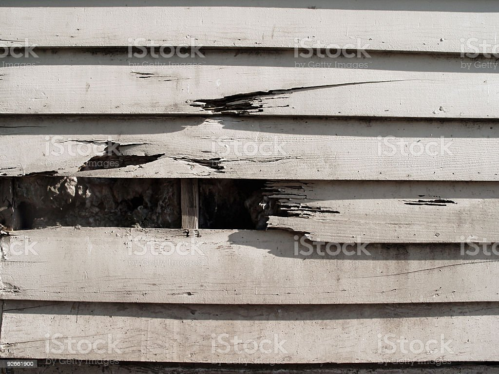 Wood Sided Building Grunge royalty-free stock photo