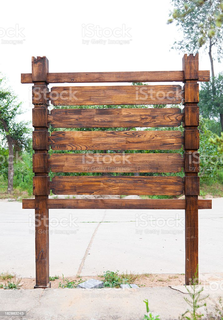 Wood Sign Collection royalty-free stock photo