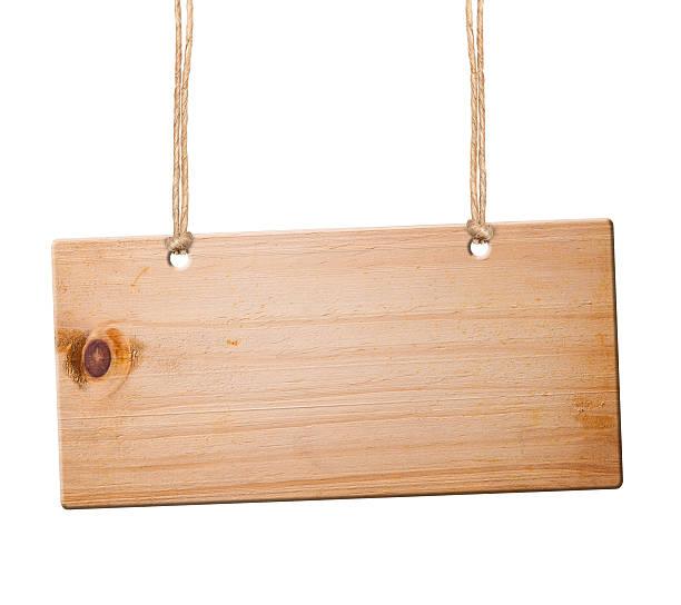 Wood sign isolated, stock photo