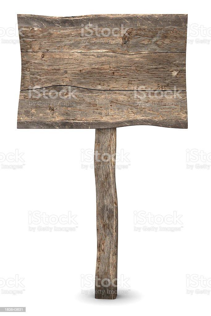 Wood Sign stock photo