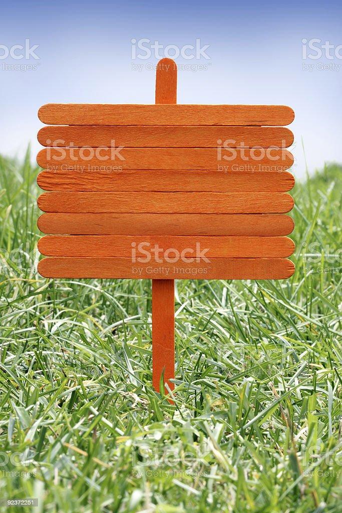 Holz Schild Lizenzfreies stock-foto