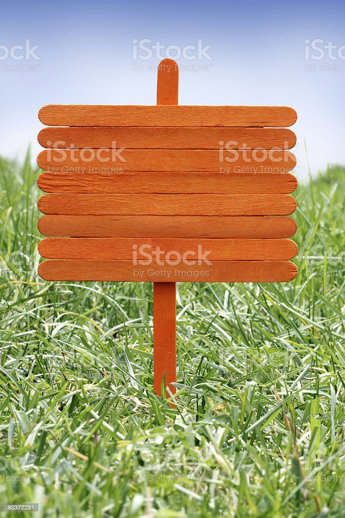 Wood Sign stock photo