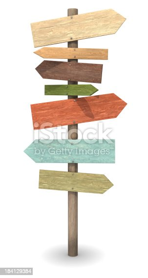 istock Wood Sign Post 184129384
