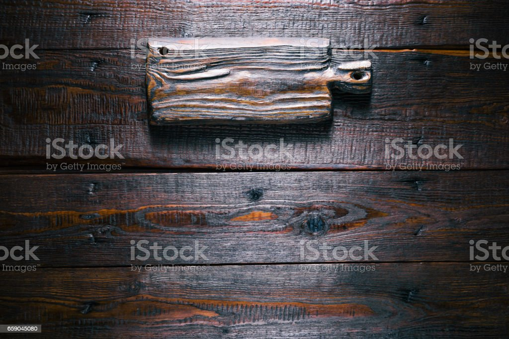 Wood signboard on wooden texture royalty-free stock photo