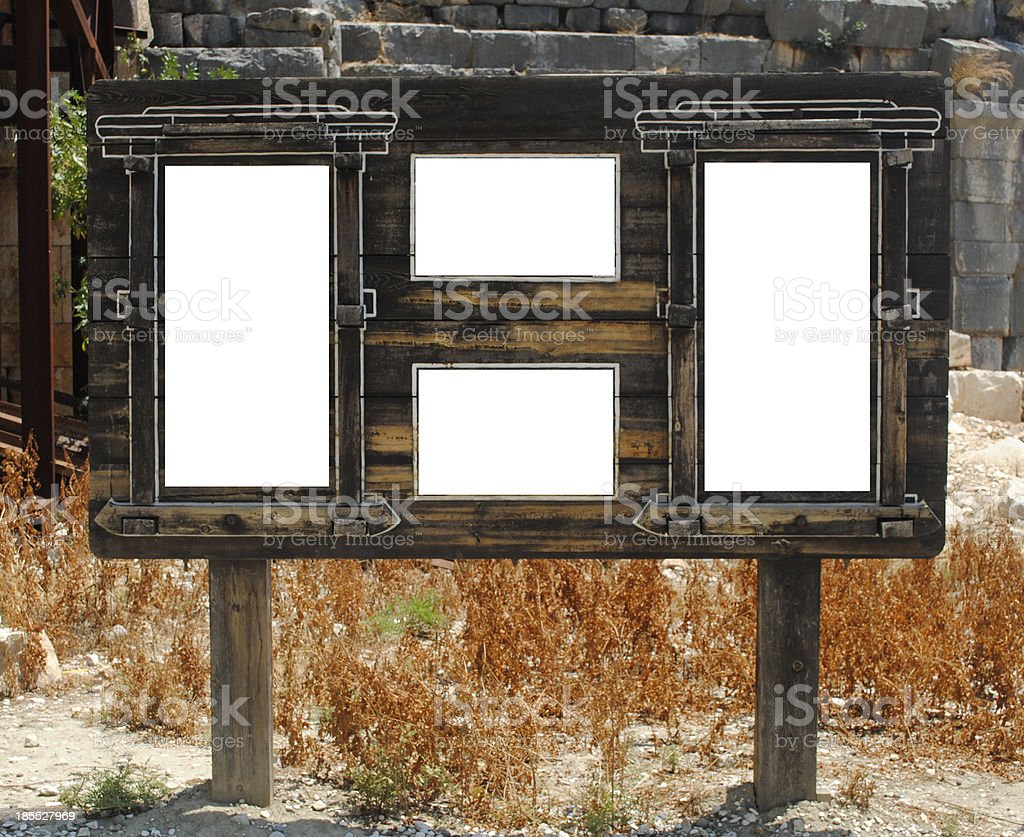 Wood signboard royalty-free stock photo