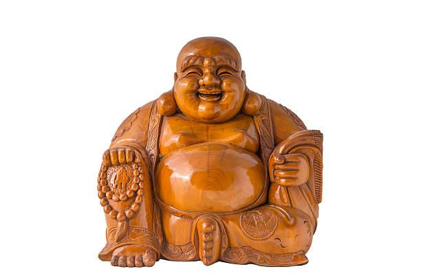 Wood Lächeln Buddha – Foto