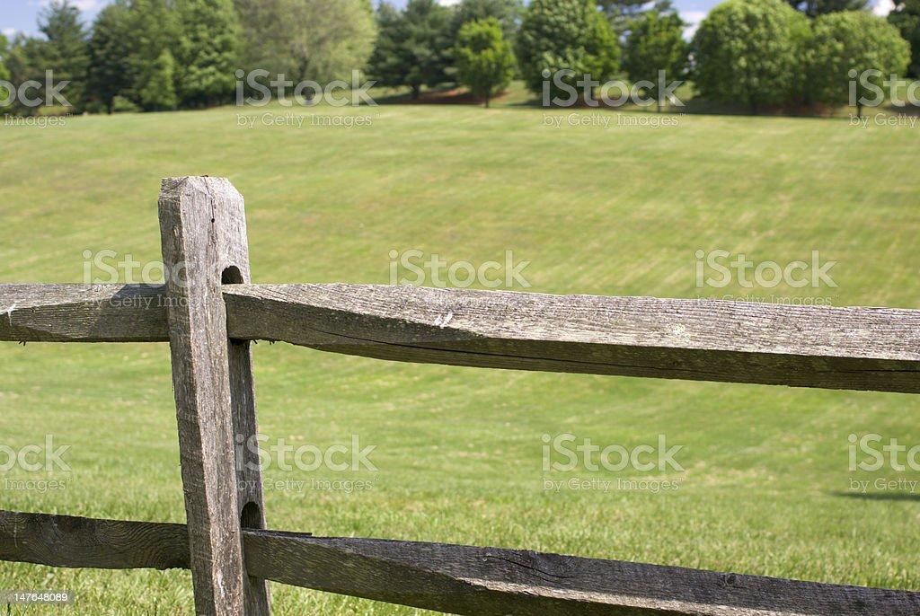 Wood Split Rail Fence stock photo