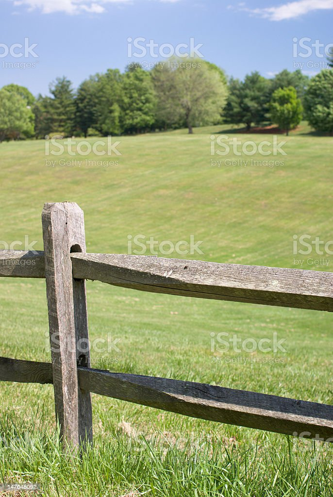 Wood Split Rail Fence royalty-free stock photo