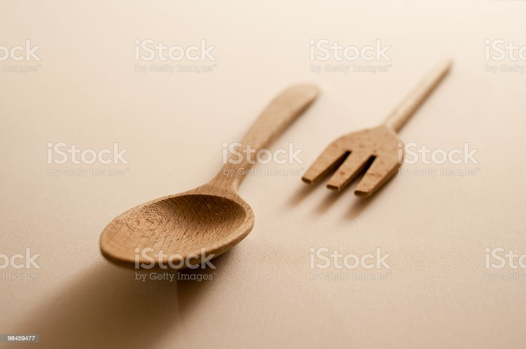 Wood Spoon And Fork royalty-free stock photo