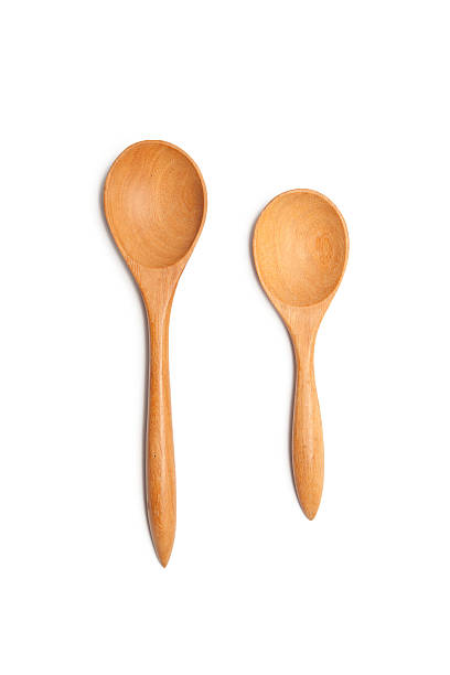 wood spoons stock photo
