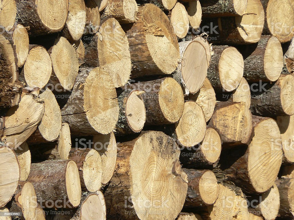 Wood stack royalty-free stock photo