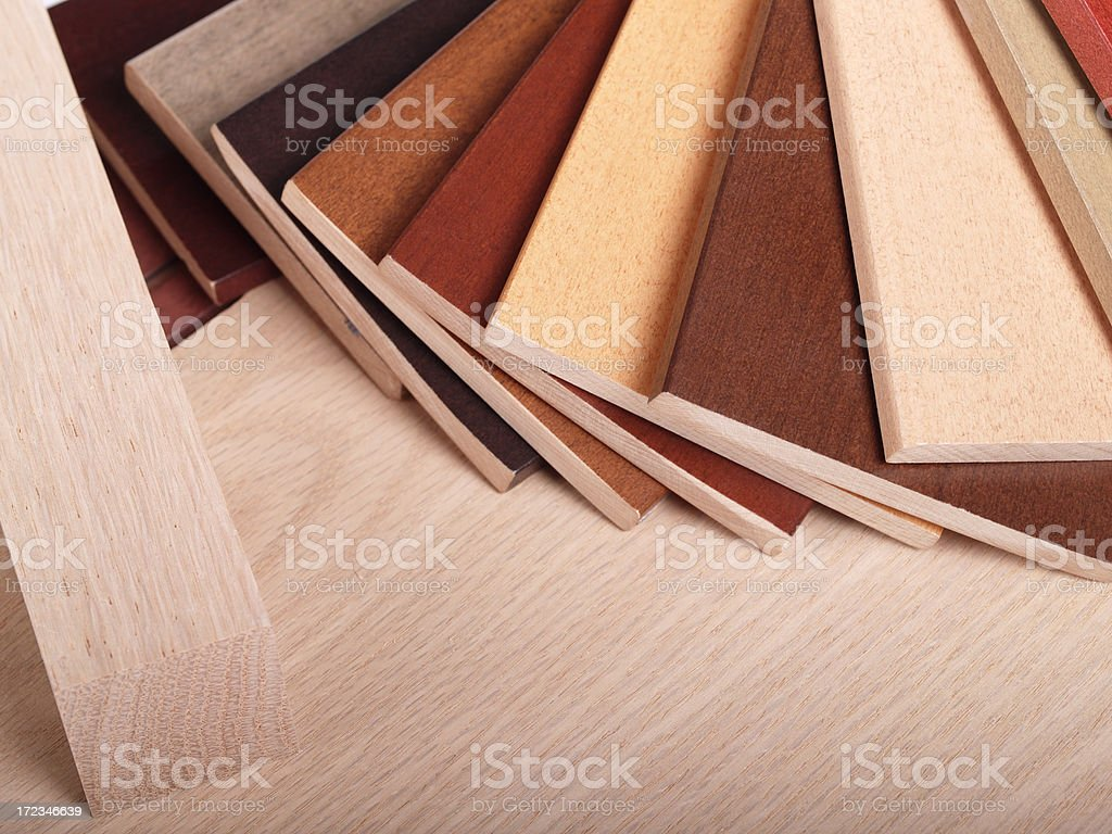 wood stain swatches royalty-free stock photo