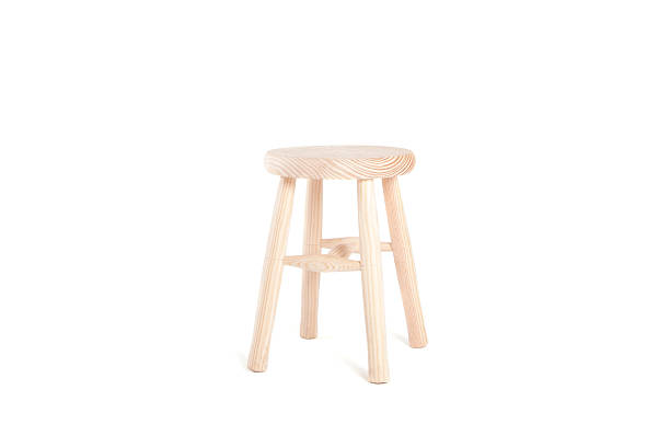 Wood Stool Wooden little stool isolated on white. stool stock pictures, royalty-free photos & images