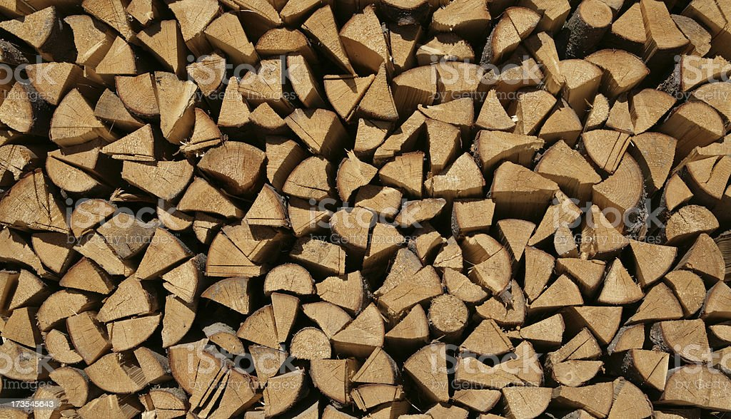 Wood Store, chopped ready for winter. royalty-free stock photo