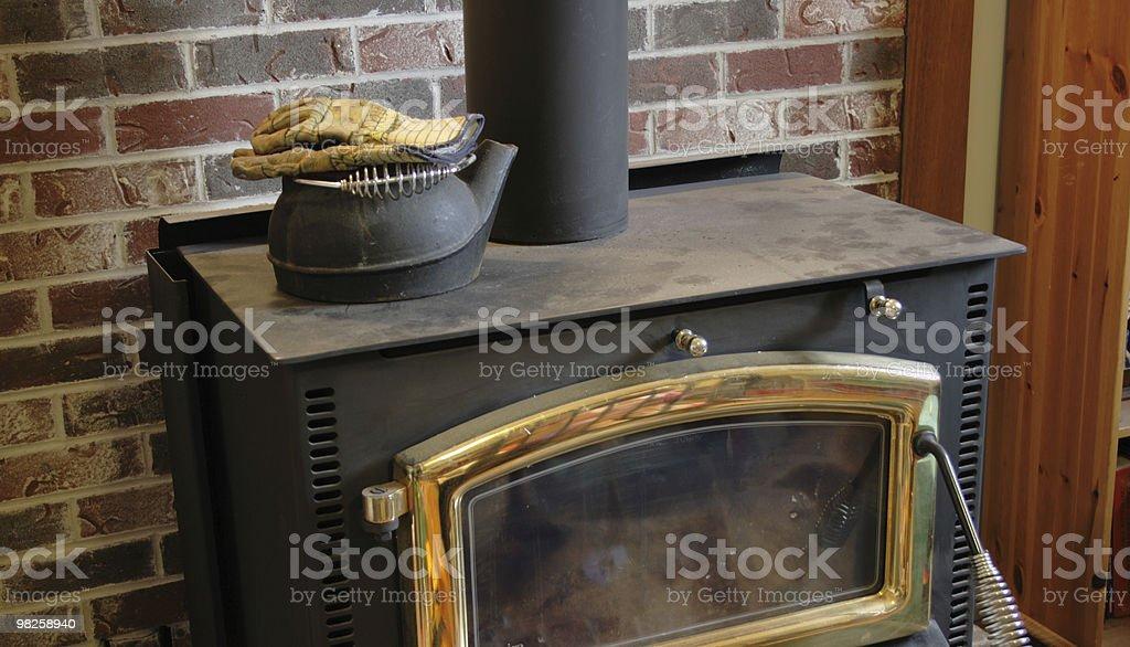 wood stove royalty-free stock photo