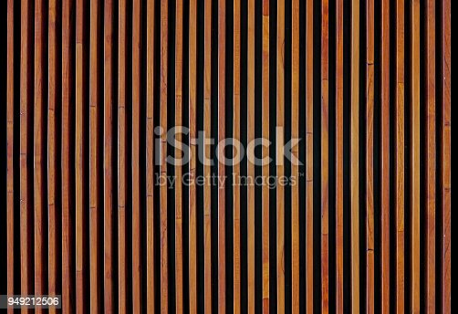 Wood strips wall panel textured