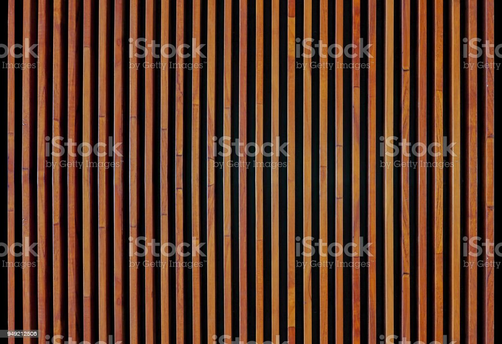 Wood strips wall panel textured stock photo