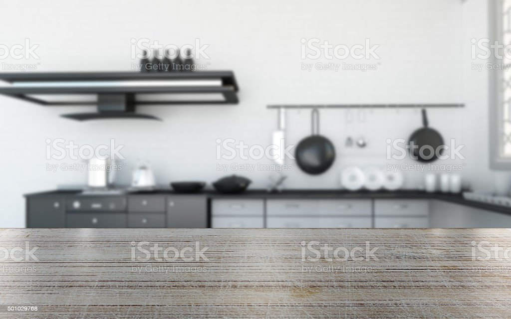 Wood table in the kitchen background for your artworkWood table in...