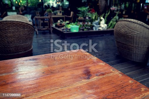862429776 istock photo wood table on blur of cafe, coffee shop, bar, resturant, backgro 1147096665
