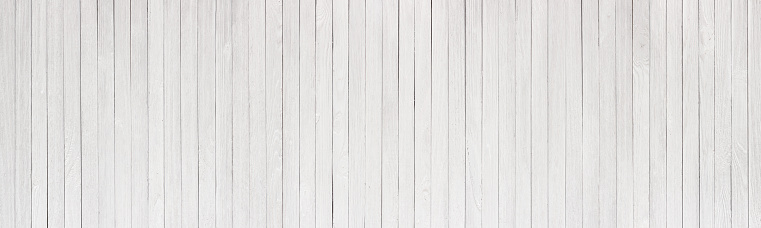 istock Wood table painted white, wooden texture of a panoramic view 1090319726