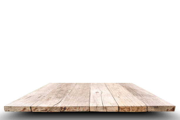 Wood table top background, for use as display product or montage. stock photo
