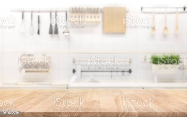 Wood table top on blur kitchen room background picture id934922794?b=1&k=6&m=934922794&s=612x612&h=f6rditirrlxtwdm4bolozfxszaxzkqyyqktw3q9mlms=