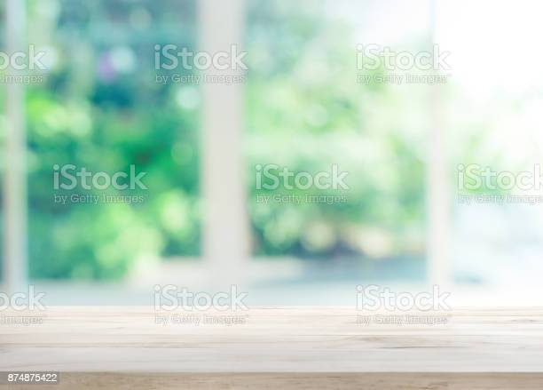 Wood table top on blur of window with garden flower picture id874875422?b=1&k=6&m=874875422&s=612x612&h=tabz1s0gcszx8vecwo6corguafvsg sns zixxdeuio=