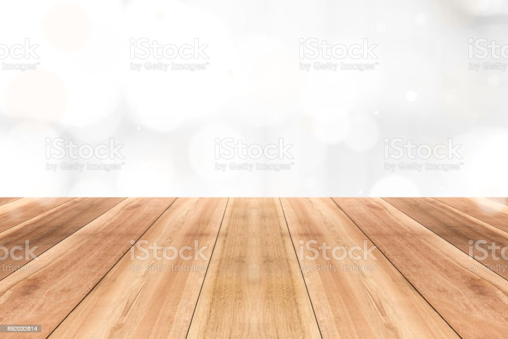 white table top background flower wood table top on gleam shiny white bokeh abstract background royaltyfree stock photo table top on gleam shiny white bokeh abstract background stock