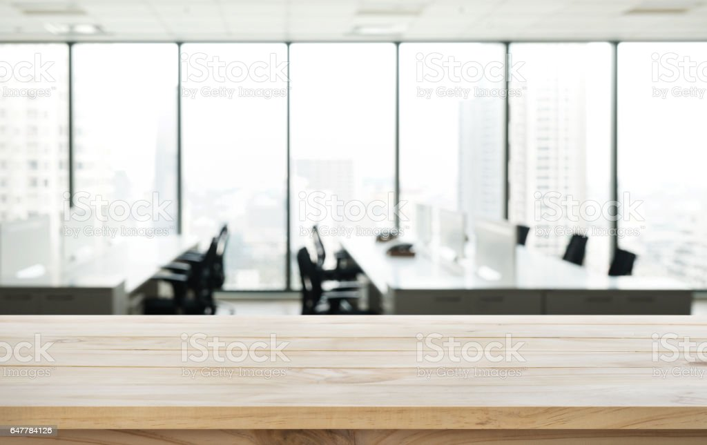 Table en bois haut de la page sur le bureau de la table et fond de