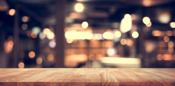 Wood table top with blur light bokeh in dark night caferestaurant picture id917339790?b=1&k=6&m=917339790&s=612x612&w=0&h=6tzkqq6cgandl p8bcga8pk0chdbwogxhdutgocu8v4=